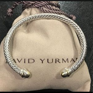 David Yurman 5mm Cable Bracelet with 14k Gold Dome